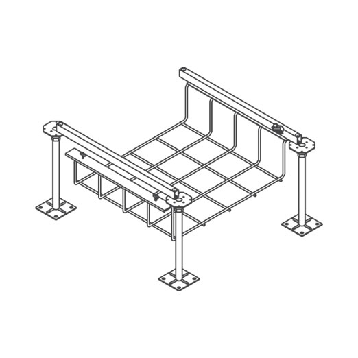 Snake Canyon Cam-Loc 301 Series - Cable Tray & Accessories (CM 301-2-CAM, CM 301-6-CAM, CM 301-12-CAM) Turning Component Bridge Support