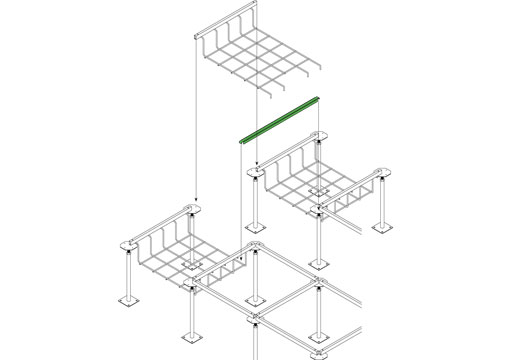 Snake Canyon Click-In 301 Series - Cable Tray & Accessories Bridge Support (CM 301-TS-2, CM 301-TS-4)