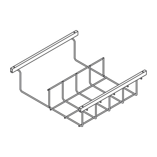 Snake Canyon Half Section 301 Series - Cable Tray & Accessories (CM 301-2-X-HS, 301-6-X-HS, 301-12-X-HS)