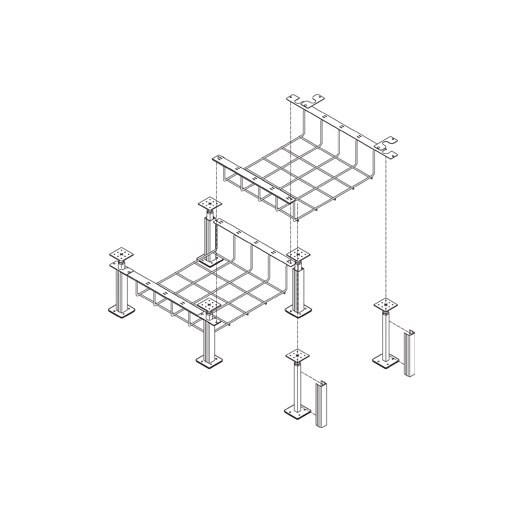 Snake Canyon Plus 301 Series - Cable Tray & Accessories (CM 301-2-A50, CM 301-4-A50, CM 301-6-A50, CM 301-8-A50, CM 301-12-A50)