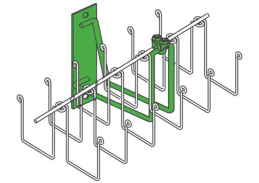 Wall Mount Bracket for 201 Series Double