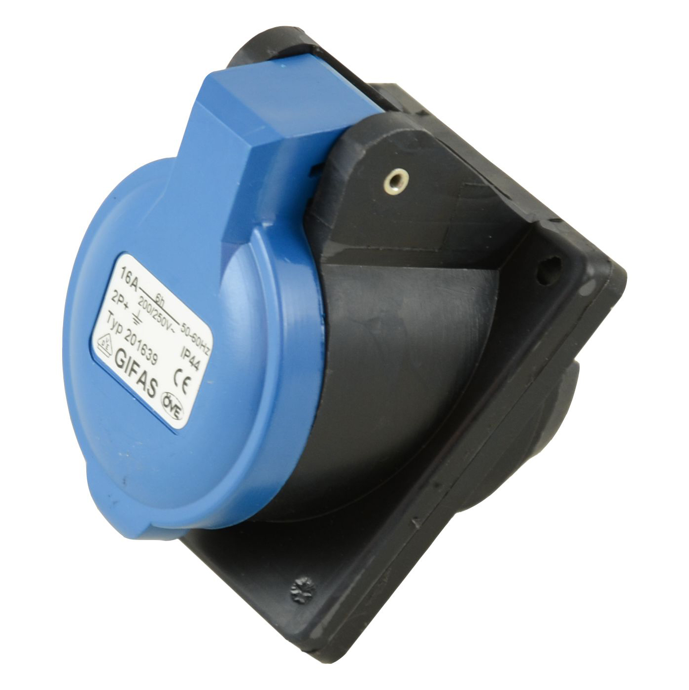 GIFAS Solid Rubber CEE Built-in Socket 16A/230V 3-pole (101401)