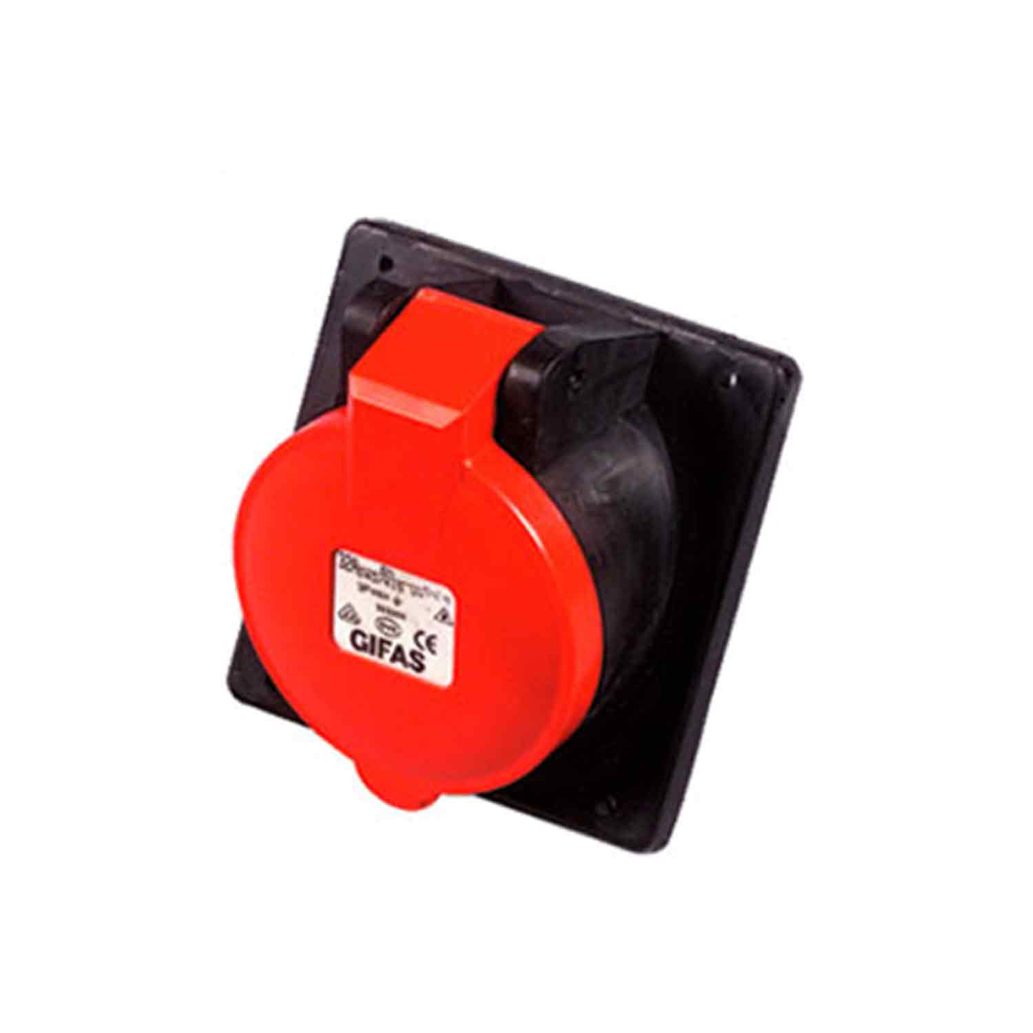 GIFAS Solid Rubber CEE Built-in Socket 16A 400V 5-pole (101993)