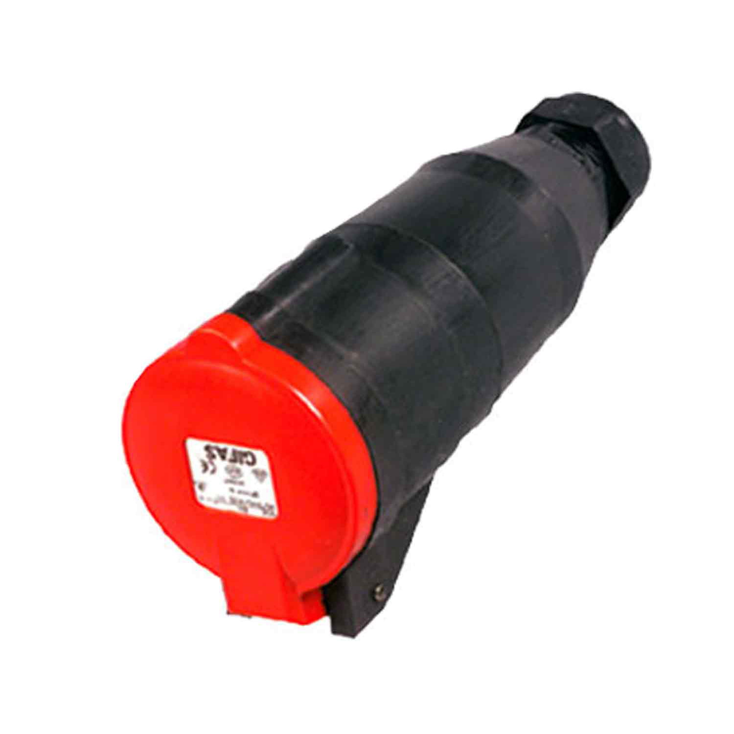 GIFAS Solid Rubber CEE Connector 16A 400V 5-pole (107147)