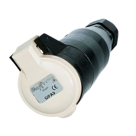 GIFAS Solid Rubber CEE Connector 16A 42V 2-pole (108197)