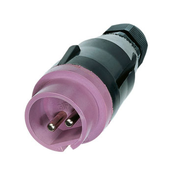 GIFAS Solid Rubber Low Voltage CEE Plug 16A 24V 2-pole (239558)