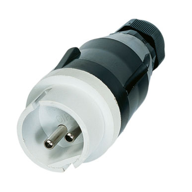 GIFAS Solid Rubber Low Voltage CEE Plug 16A 42V 2-pole (239640)