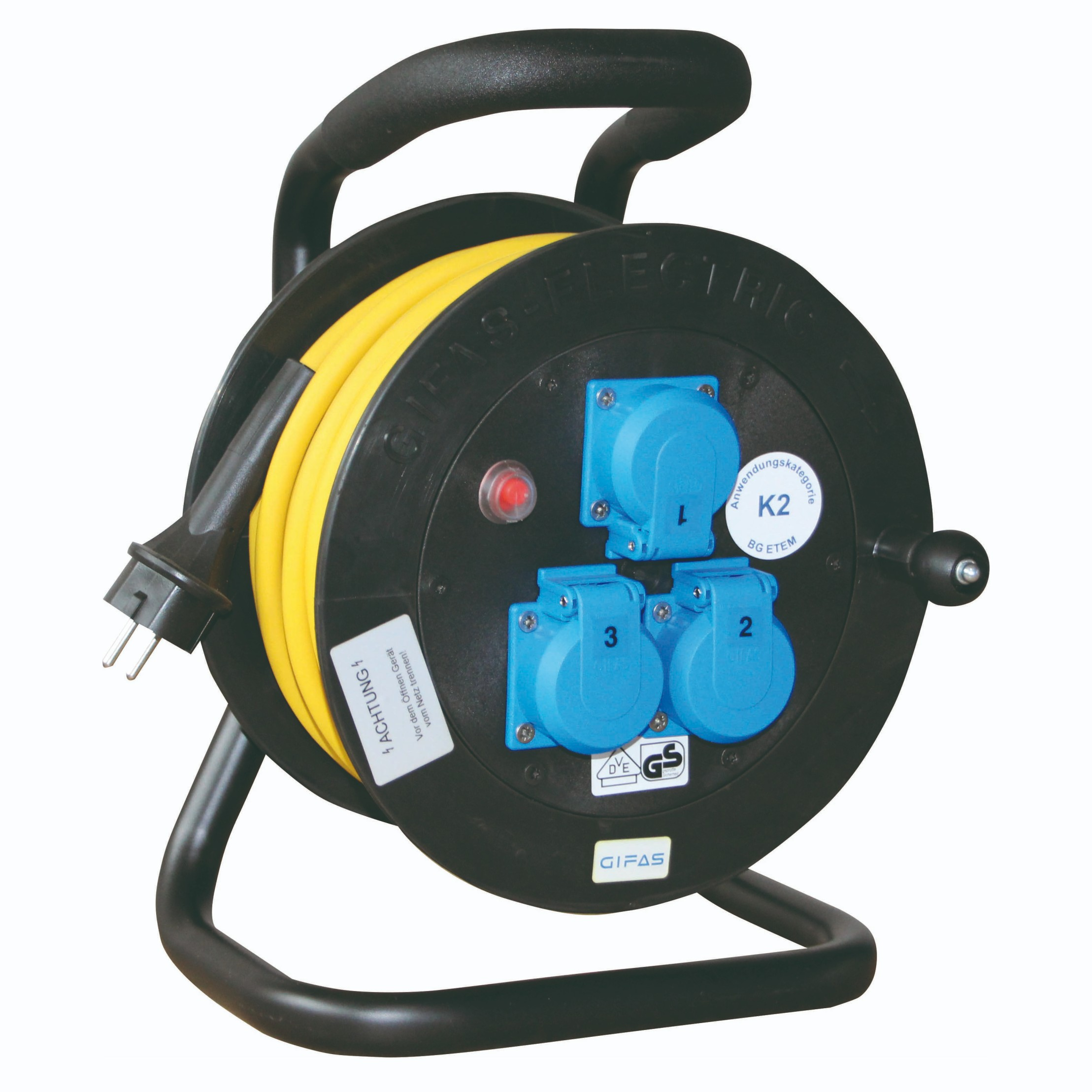 GIFAS Solid Rubber Cable Reel - Type 501 (282286, 255873)
