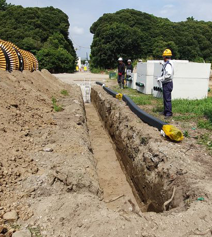 how to install underground cable ducting