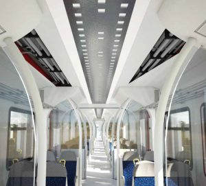 corrugated conduits for trains - passenger areas